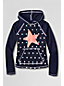Little Girls' Star Graphic Rash Guard Hoodie