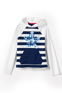 Girls' Star Graphic Rash Guard Hoodie