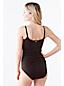 Women's Regular Shape and Enhance Scoop Neck Beaded Swimsuit