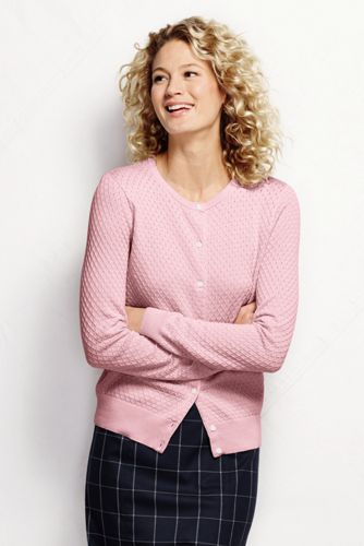 Women's Regular Supima® Diamond Cardigan