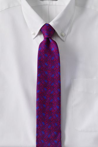 Men's Regular Printed Paisley Silk Tie