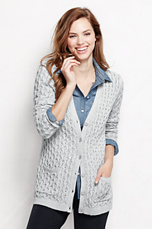Women's Lofty Blend Lurex Aran Cardigan