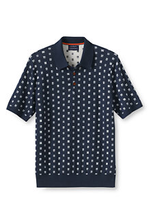 Men's  Fine Gauge Supima®  Jacquard Polo Shirt