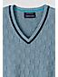 Men's Regular Fine Gauge Textured Check V-Neck Sweater