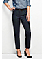 Women's Mid Rise Slim Leg Plaid Trousers