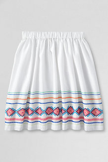 Girls' Embroidered Gathered Skirt