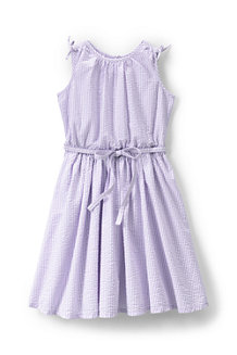 Girls' Tie Shoulder Seersucker Twirl Dress