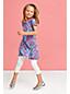 Little Girls' Short Sleeve Knit Pull Over Jersey Knit Dress