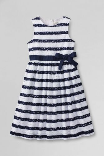 Girls' Sleeveless Jersey Knit Broderie Anglaise Dress