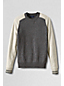 Lambswool-Pullover im Colorblock-Design, Slim Fit