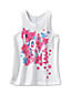 Little Girls' Graphic Racerback Knit Vest Top