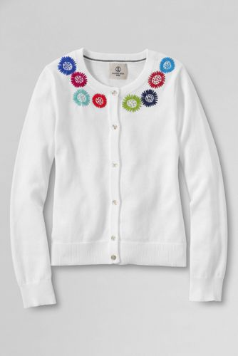 Girls' Embroidered Sophie Cardigan