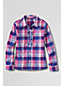 Little Girls' Patterned Woven Ruffle Front Shirt