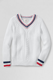 Girls' V-Neck Cricket Jumper