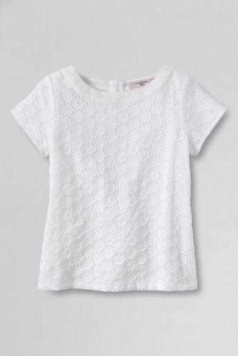 Little Girls' Short Sleeve Woven Top