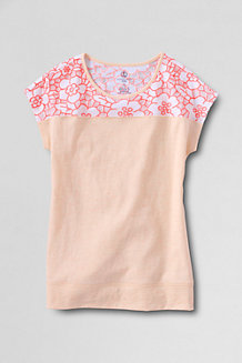 Girls' Lace Detail Tee