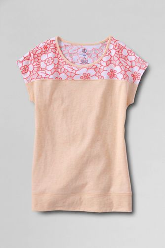 Little Girls' Lace Detail Tee