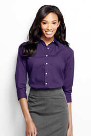 Women's Petite 3/4 Sleeve Comfort Dress Shirt