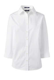 School Uniform Women's 3/4 Sleeve Comfort Dress Shirt