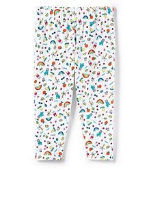 Girls' Knit Pattern Cropped Jersey Leggings