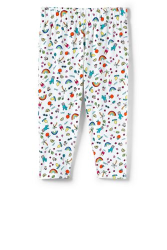 Little Girls' Knit Pattern Cropped Jersey Leggings