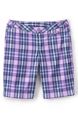Karierte Bermuda-Shorts für kleine Mädchen
