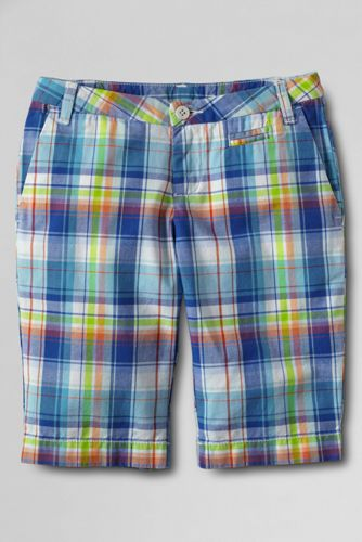 Girls' Plaid Bermuda Short