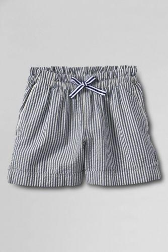 Little Girls' Pull-on Seersucker Shorts