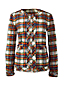 Women's Regular Long Sleeve Stewart Plaid Fringed Jacket