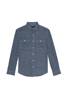 Men's Tailored Fit Shipyard Chambray Shirt