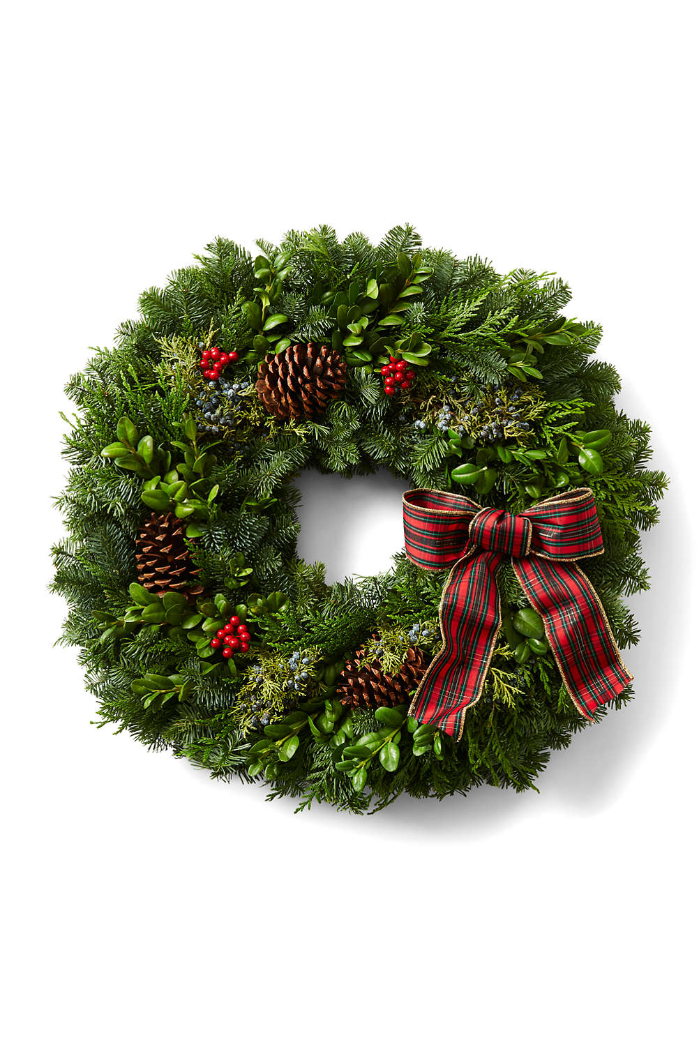 traditional christmas wreath from lands end