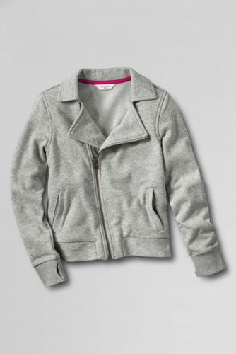 Little Girls' French Terry Biker-Style Jacket