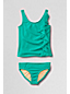 Little Girls' Bohemian Beach Cascading Ruffle Tankini Set
