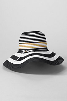 Women's Striped Straw Spectator Hat