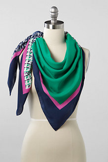 Women's Nautical Pop Square Scarf