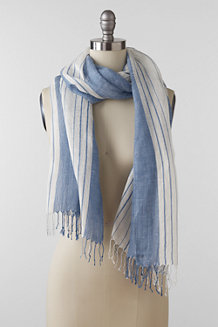 Striped Chambray Scarf