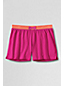 Little Girls' Plain Contrast Waistband Knit Shorts