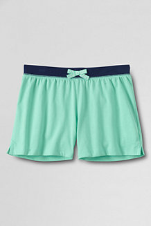Girls' Contrast Waistband Knit Shorts