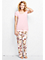 Women's Regular Lightweight Viscose Patterned Pyjama Set