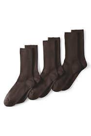 Men's Seamless Toe Cotton Crew Socks (3-pack)