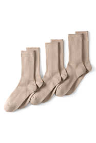 School Uniform Men's Seamless Toe Cotton Crew Socks (3-pack)