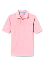 Men's Mesh Short Sleeve Polo Shirt with Pocket