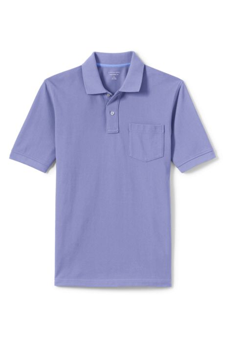 Men's Tall Mesh Short Sleeve Polo Shirt with Pocket
