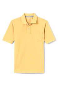 Men's Mesh Short Sleeve Polo Shirt with Pocket