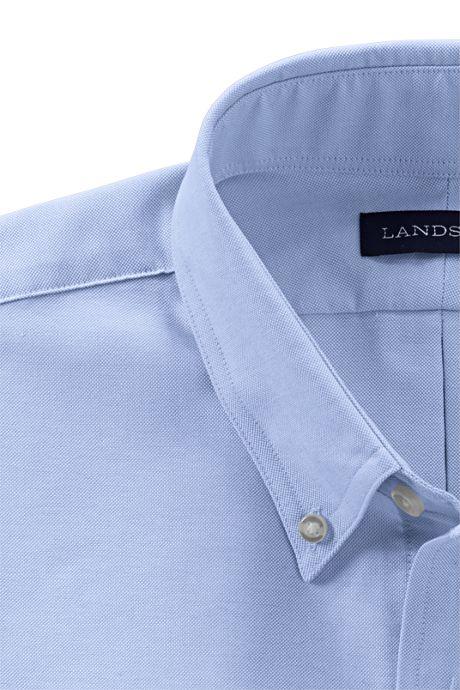 School Uniform Men's Tall Tailored Fit Long Sleeve Buttondown Oxford Dress Shirt