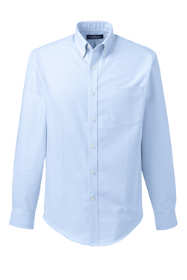 School Uniform Men's Tailored Fit Long Sleeve Buttondown Oxford Dress Shirt