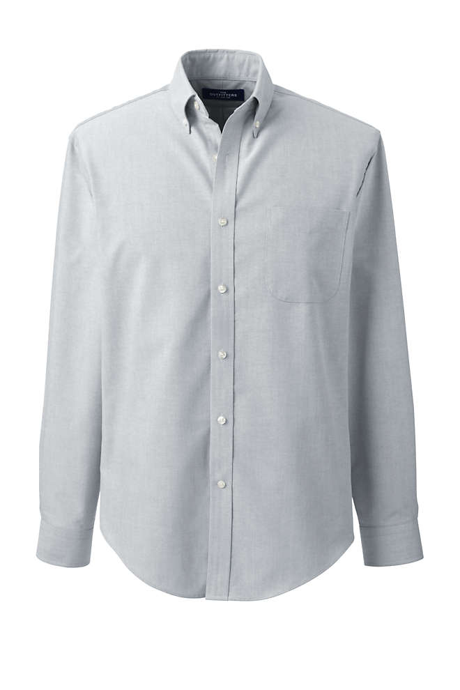 Men's Tall Tailored Fit Long Sleeve Buttondown Oxford Dress Shirt, Front