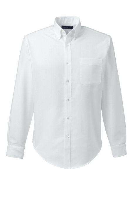 School Uniform Men's Tall Tailored Fit Long Sleeve Buttondown Oxford Dress Shirt