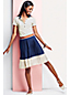 Women's Regular Pleated Colourblock Skirt