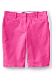 Women's  Mid Rise Bermuda Chino Shorts